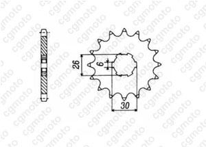 Pignon Xj 650 86-90