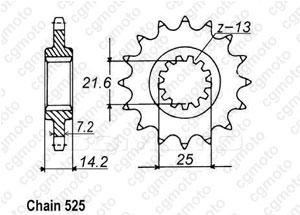 Pignon Zr 750 Zephir 95-98