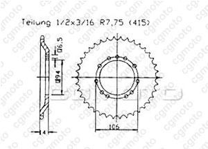 Cour Ktm 50 Sx Pro 01-03
