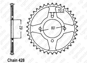 Couronne Tt-r 125  Pts Roues