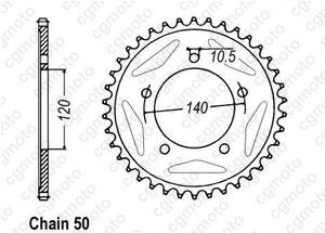 Kit chaine Triumph Sprint 955 Rs