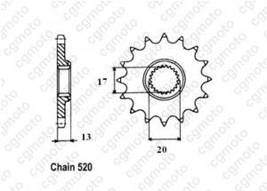Kit chaine Tm EN125