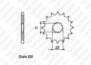 Kit chaine Tm 300 Cross/Enduro