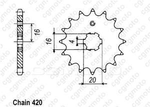 Kit chaine Yamaha Lc 50 Bop