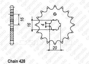 Kit chaine Yamaha Dt 80 Lc2