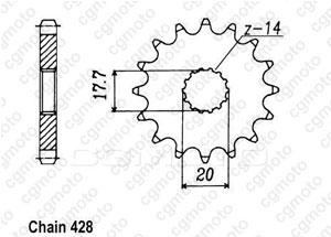 Kit chaine Yamaha Tzr 125 R