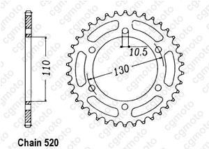 Kit chaine Yamaha MT-03