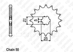 Kit chaine Yamaha Rd 350 Lc