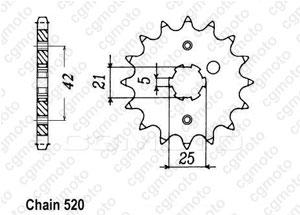 Kit chaine Yamaha It 490