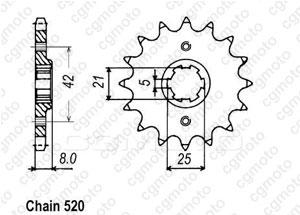 Kit chaine Yamaha Xt 550