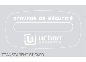 Sticker pour véhicule gravé