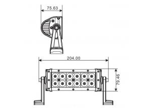 Projecteur 12 LED Quad 36 W