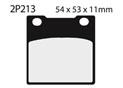 Plaquette de frein Nissin 2P213NS semi-metallique