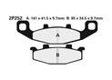Plaquette de frein Nissin 2P252NS semi-metallique