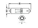Boîte de 10 ampoules BIHR 12V 23W BA9S H23W plots centrés