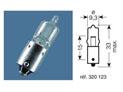 BOITE 10 ampoules 12V-20W / TEMOINS CULOT BA9S