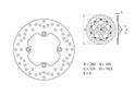 Disque de frein Brembo Serie Oro rond fixe type 68B40780